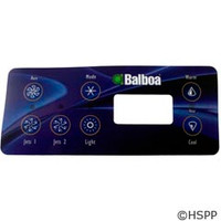 Balboa Water Group Overlay,7 Button Serial Standard W/Aux (54170) - 11159