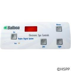Balboa Water Group Overlay,Duplex Dig Panel Led(1 Pump,Blower,Light)(51223) - 10307