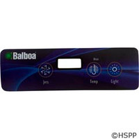 Balboa Water Group Overlay,Lite Duplex Panel,Lcd(2 Pump,No Blower,Light)(54135) - 10839