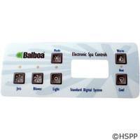 Balboa Water Group Overlay,Std Panel,Lcd(1 Pump,Blower,Light)(51057) - 10328