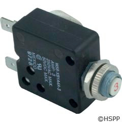 Generic Circuit Breaker, Panel Mount, 3A, 120V -