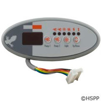 Gecko Alliance Panel,Tsc-9/K-9 Sm Oval,4-Button,Led,Dual Pump,S Class - BDLTSC9PPD