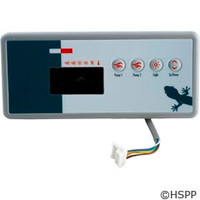 Gecko Alliance Panel,Tsc-19,Lg Rec,4-Button,Led,2-Pump,Sspa-1,Mp - BDLTSC19GE2
