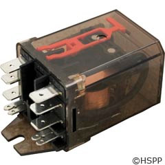 """Schrack Dustcover Relay 120Vac 15A Dpdt .25"""" -"""