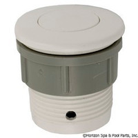 Waterway Plastics Flush Air Button, White - 650-3000