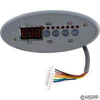 Gecko Alliance Tsc-9/K-9 Sm Oval, 4-Button, Led Display, No Label - 0202-007154