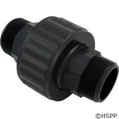 "Hayward Pool Products 1-1/2"" Union Male Thd-Black - SP1480BLK"
