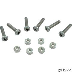Hayward Pool Products Cover Screw W/Nut Set Of 6 Each - SPX0710Z1A