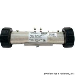 "Therm Products Flo Thru Heater, 1.0Kw 120V 2""X10"", Inc. Split Nuts - C1100-1200-1"