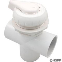 "Balboa Water Group/ITT Hydroflow 2"" 3-Way Valve Assy, White - 11-4000-WH"