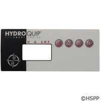 Hydro-Quip Eco-8 Label, Lg Rectangle, (P1,Aux,L,1 Heat) - 80-0204