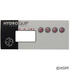 Hydro-Quip Eco-8 Label, Lg Rectangle, (P1,Aux,L,1 Heat) - 80-0204