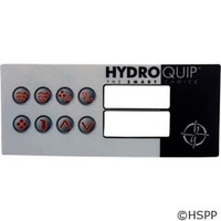 Hydro-Quip Ht-2 Label, Lg Rectangle, 8-Button - 80-0211