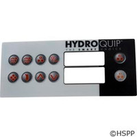 Hydro-Quip Ht-2 Label, Lg Rectangle, 10-Button - 80-0211-10