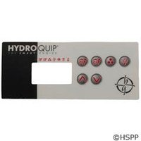 Hydro-Quip Eco-3 Label, Lg Rectangle, (P1,P2,Aux,L,2 Heat) - 80-0203