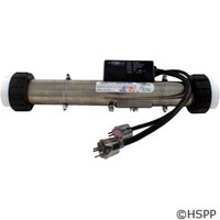 """Hydro-Quip Ps Electronic Htr,5.5Kw/240V,2""""X15"""",Short Cord,Clamps - 48-PS55-S"""
