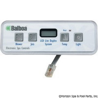Balboa Water Group Panel, Lite Duplex Digital Lcd - 54094