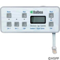 Balboa Water Group 7-Button Std Dig Panel (Can Be Used W/M-7 Systems) - 54156-01
