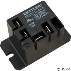 Zettler Power Relay (Z2280-1A-120A)Mini 30A Spst 120Vac -