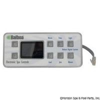 Balboa Water Group Panel, Serial Deluxe Digital,(1 / 2-Jet, 1-Blwr) Ph Plug - 51058