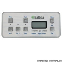 Balboa Water Group Panel, Serial Std Digital (2-Jet, 1-Blwr) - 53189-01