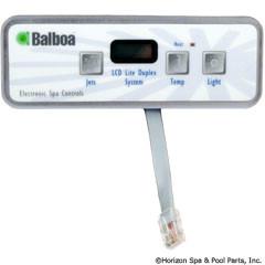 Balboa Water Group Panel, Lite Duplex Digital Lcd W/O Blower - 54135