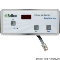 Balboa Water Group Panel, Duplex Digital, (1-Jet, No-Blwr) - 51225