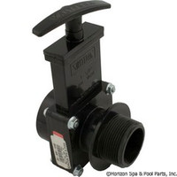 "Valterra Products 1-1/2"" Valve, Mipt X Slip, Abs-Black - 7105"