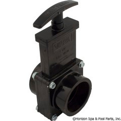 "Valterra Products 1-1/2"" Valve, Sxs, Abs-Black - 7101"