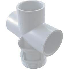 "Waterway Plastic Body, 1""Top Access Diverter Valve, White - 602-4300"