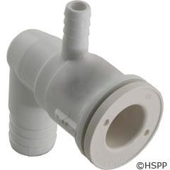 """Waterway Plastics Adj Ell Body, 3/8""""Rb Air X 3/4""""Rb Water - 212-0760"""