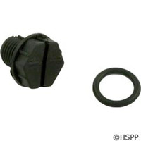 "Waterway Plastics 3/8"" Drain Plug W/ O-Ring - 760-1201"