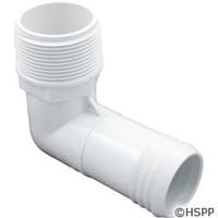 """Waterway Plastics 1 1/2""""Mpt X 1 1/2"""" Hose Barb Ell - 411-6520"""