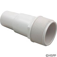 "Waterway Plastics Hose Adapter 1 1/2""Mpt X (1 1/4""/1 1/2"") Hose Fitting - W - 417-6060"