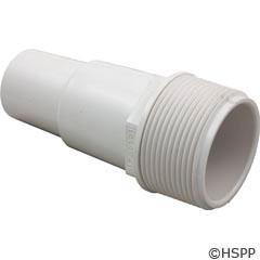 "Waterway Plastics Hose Adapter 1 1/2""Mpt X (1 1/4""/1 1/2"") Hose Fitting - W - 417-6060"