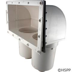 Waterway Plastics Front Access Filter Body Assy, 100Sqft, White - 550-6620