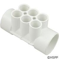 """Waterway Plastics Manifold 2""""S X 2""""S, (6)3/4"""" Ports - 672-4270"""