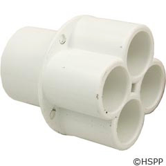 "Waterway Plastics Manifold, 1""S, (4) 1/2""S Ports - 672-4570"