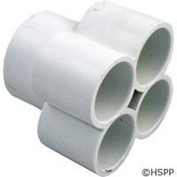 """Waterway Plastics Manifold, 1.5""""S X (4)1""""S Ports - 672-4620"""