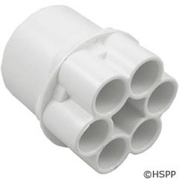 "Waterway Plastics Manifold, 2""S, (6) 1/2""S Ports - 672-4130"