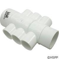 """Waterway Plastics Manifold 1 1/2""""S/2""""Spg X 2""""S W/(6)1""""S Ports - 672-4550"""