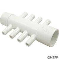 """Waterway Plastics Manifold 1"""" W/(8)3/8"""" Barbs - 672-4340"""