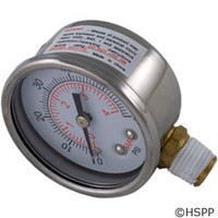 Waterway Plastics Pressure Gauge - 830-3000