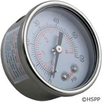 Waterway Plastics Pressure Gauge - 830-4000SS