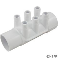 "Waterway Plastics Sp Manifold 2""S X 2""Spg X(6)3/4""Barb (Use 55-270-1519) - 672-7150"