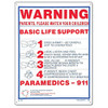Pool and Spa Sign - Basic Life Support - 40367