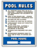 Pool Sign - Commercial Pool Rules - 40322