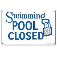 Pool Sign - Swimming Pool Closed - 40333