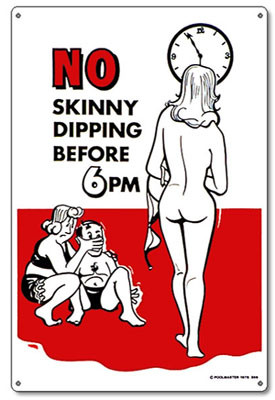 Pool & Spa Sign - No Skinny Dipping - 41356