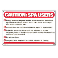 Spa Safety Sign - Caution: Spa Users - 40360